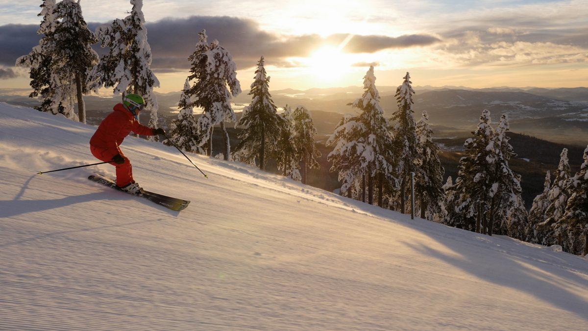 Baldy Mountain sunset skiing