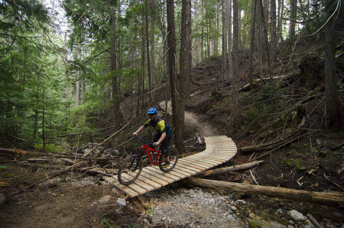Mountain Biking Upstream Trail, near Christina Lake, Boundary Country