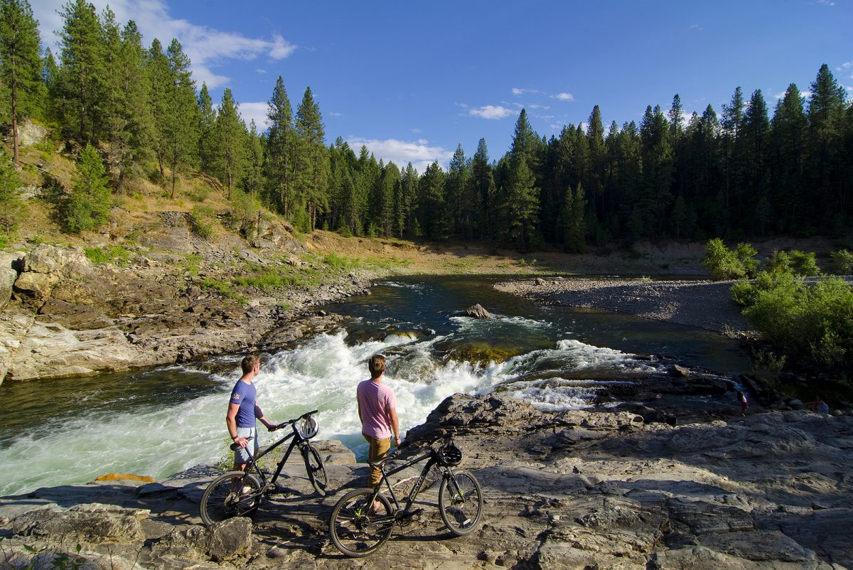 Biking near Christina Lake, Boundary