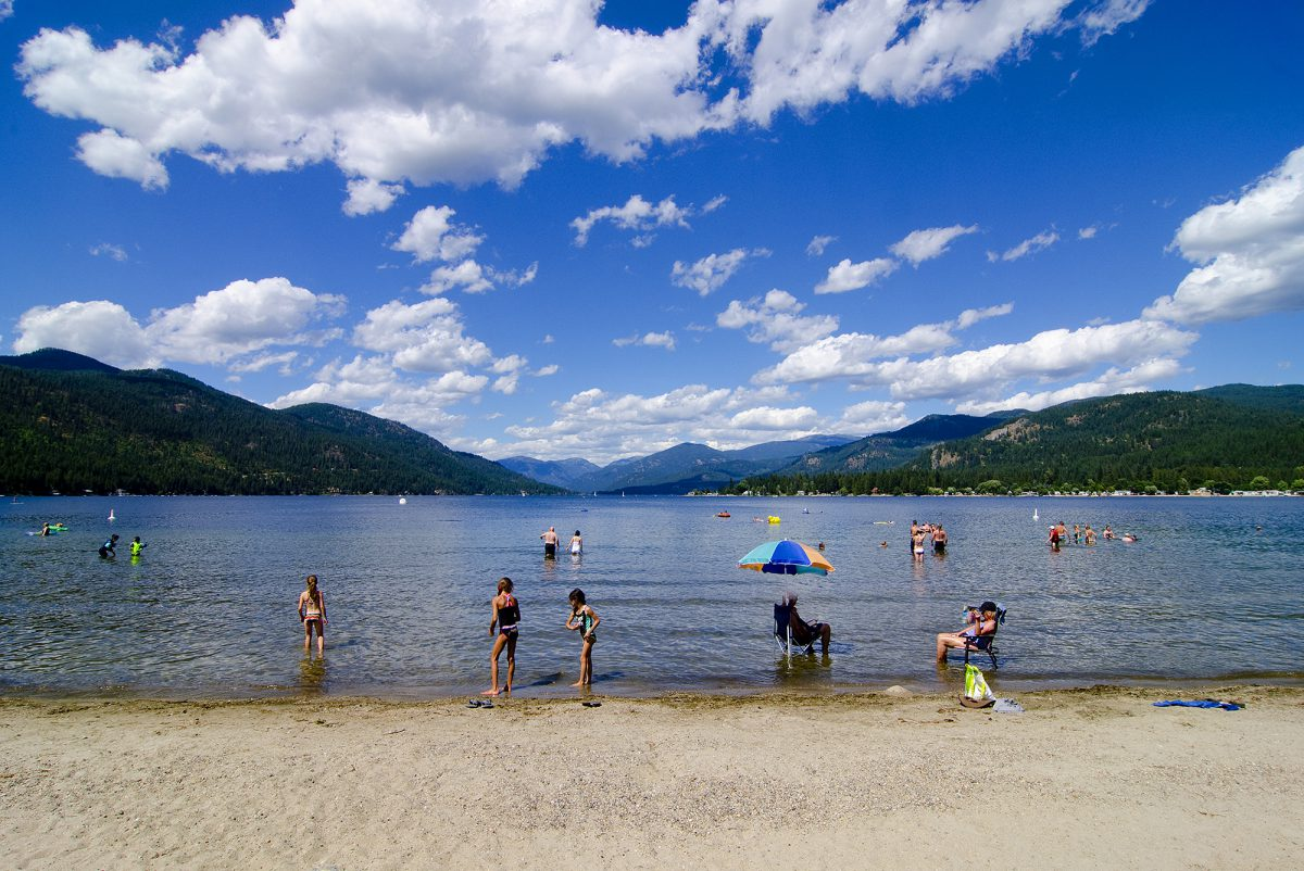 Swimming, Christina Lake, Boundary