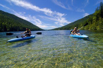 Kayaking, Jewel Lake Provincial Park, near Greenwood, Boundary