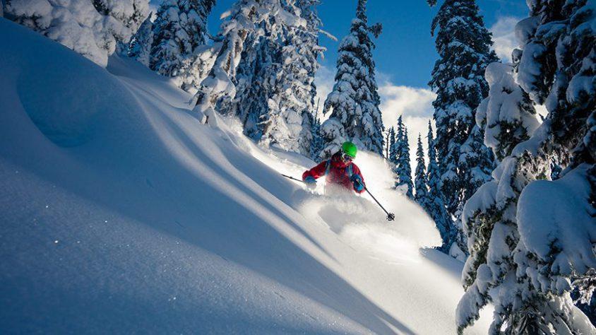 downhill skiing Boundary Country, deep powder skiing
