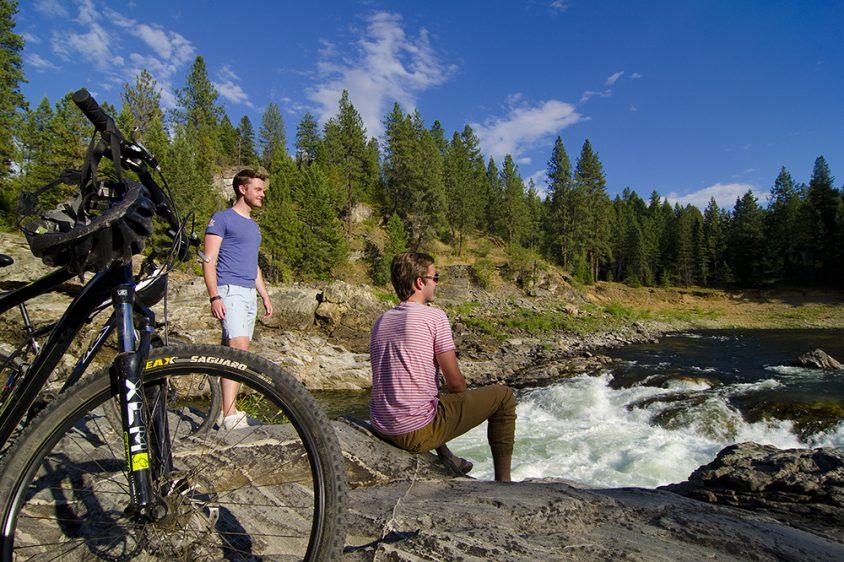 Biking, near Christina Lake, Boundary