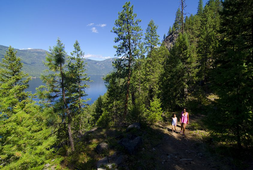 Hiking at Deer Point Trail, Christina Lake Provincial Park, Boundary