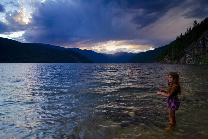 Fishing, Christina Lake, Gladstone Provincial Park, Boundary