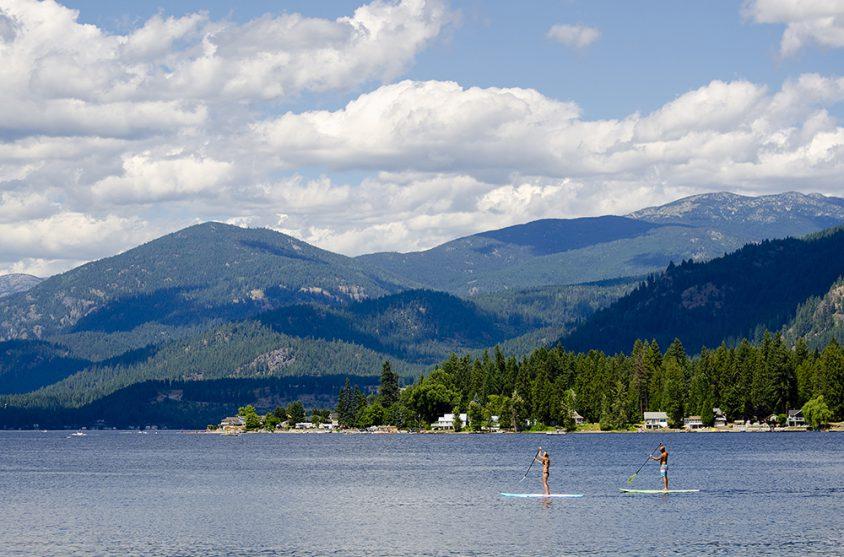 Paddleboarding, Christina Lake, Boundary