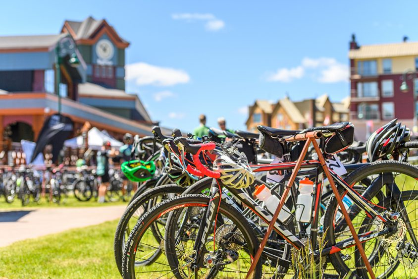 Triathlon, bike racks, Big White