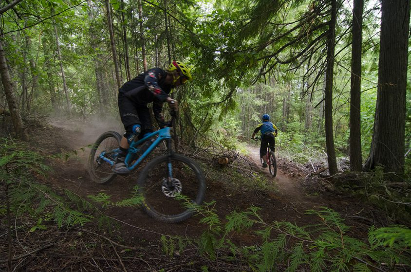 Mountain Biking, Upstream Trail, near Christina Lake, Boundary Country