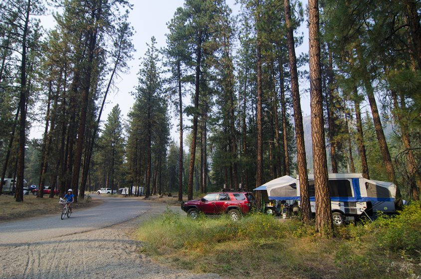 Camping, Kettle River Rec Area, near Westbridge, Boundary Country