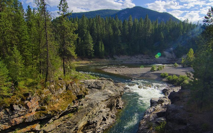 Kettle River, Cascade Falls, summer, Boundary
