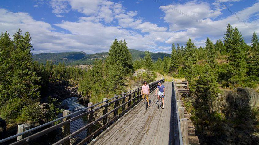 Biking TCT, near Christina Lake, Boundary