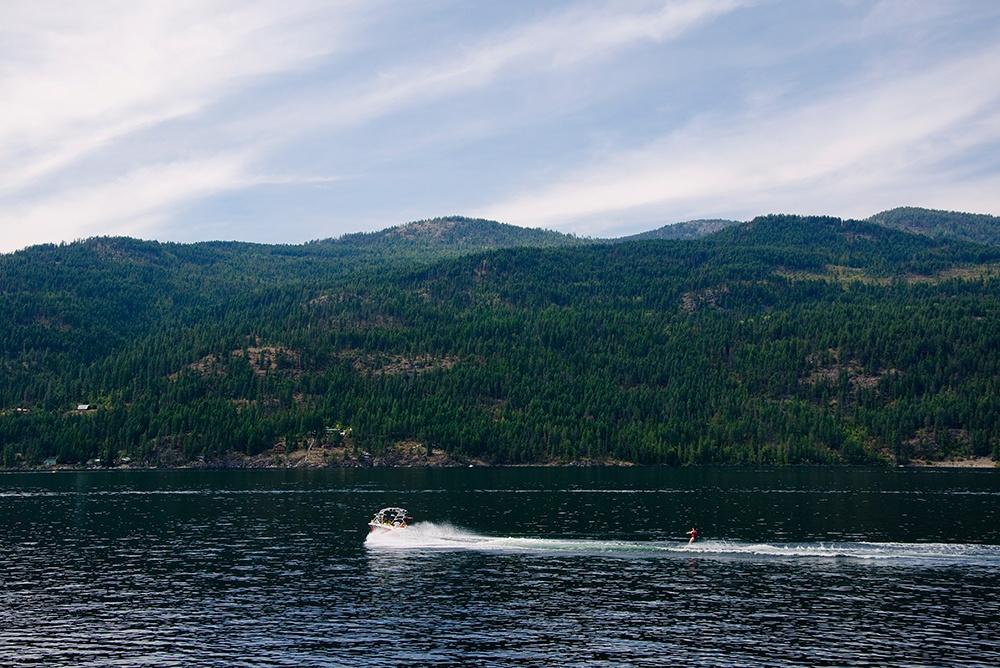 Water skiing, Christina Lake, Boundary