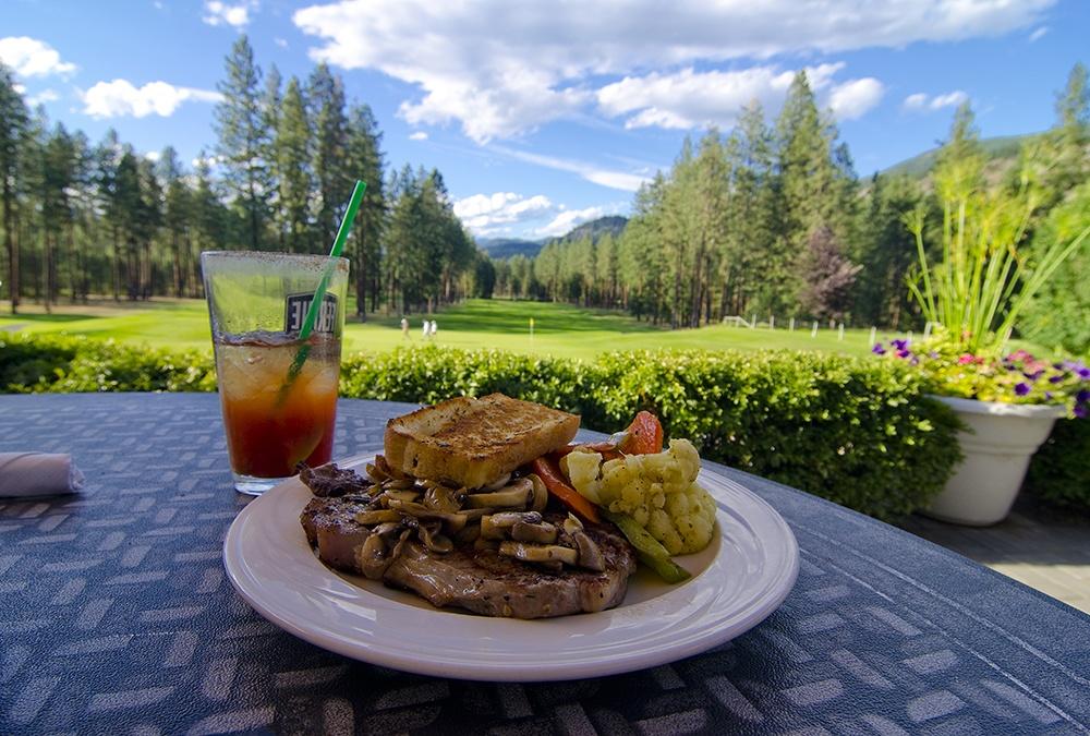 Steak dinner, Christina Lake Golf Club, Christina Lake, Boundary