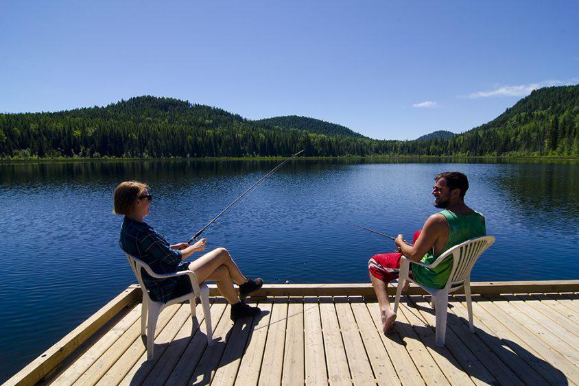 Wilgrass Lake, fishing, near Grand Forks, Boundary