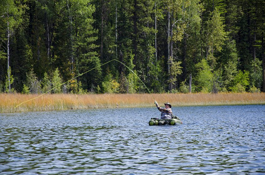 Fishing, Wilgrass Lake, near Grand Forks, Boundary Country