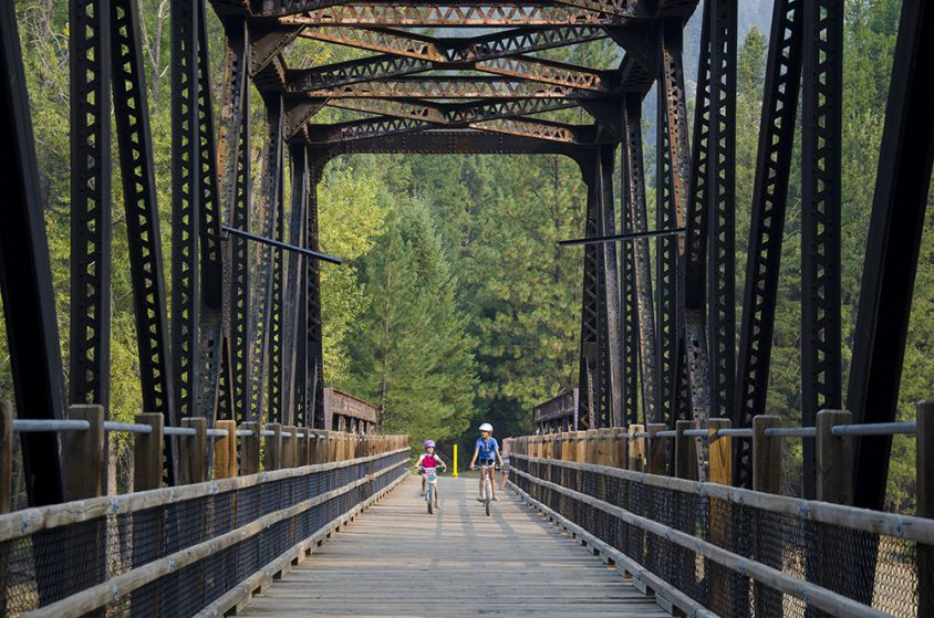 Biking, KVR Trail, Kettle River Rec Area, Boundary Country