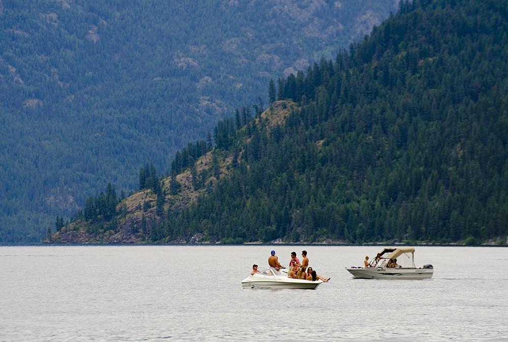 Swimming, boating Christina Lake, Boundary