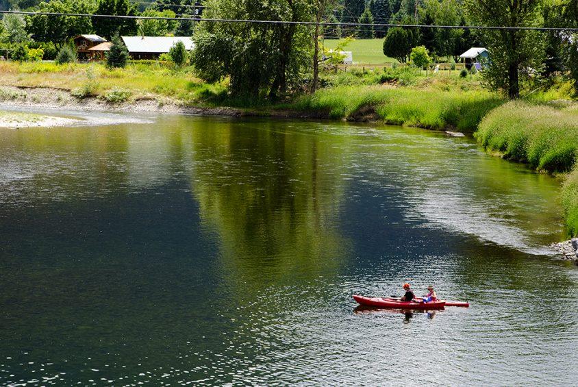 Kayaking, Kettle River, Grand Forks, Boundary