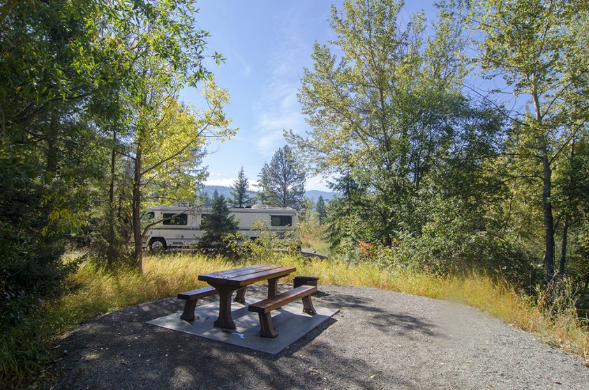 Camping, Boundary Creek Provincial Park, near Greenwood, Boundary Country