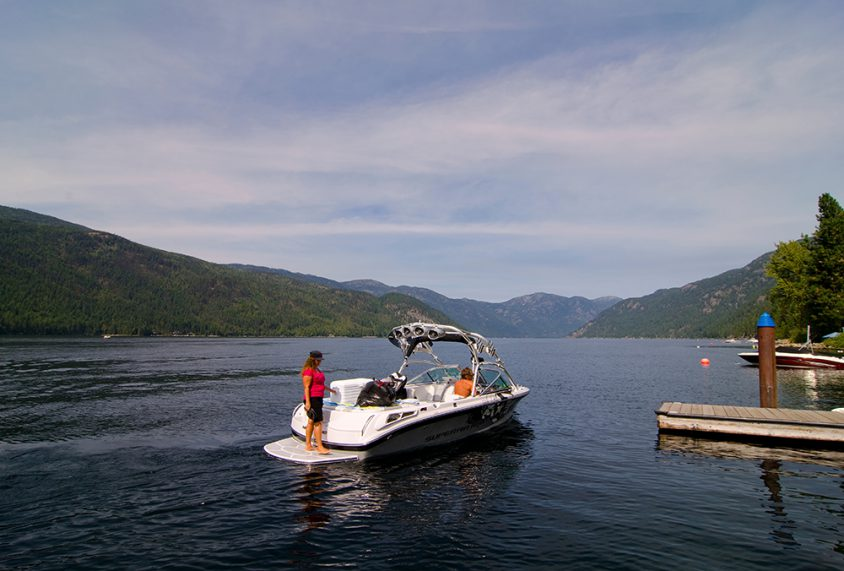 Boating, Christina Lake, Boundary