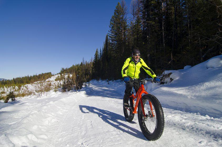 Fat Biking, Phoenix Mountain, near Greenwood, Boundary Country