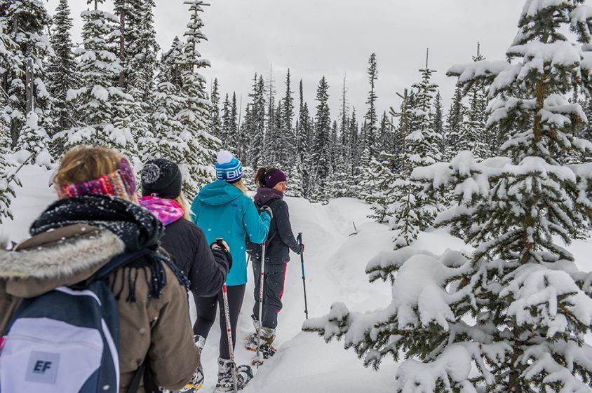 Snowshoeing, Boundary