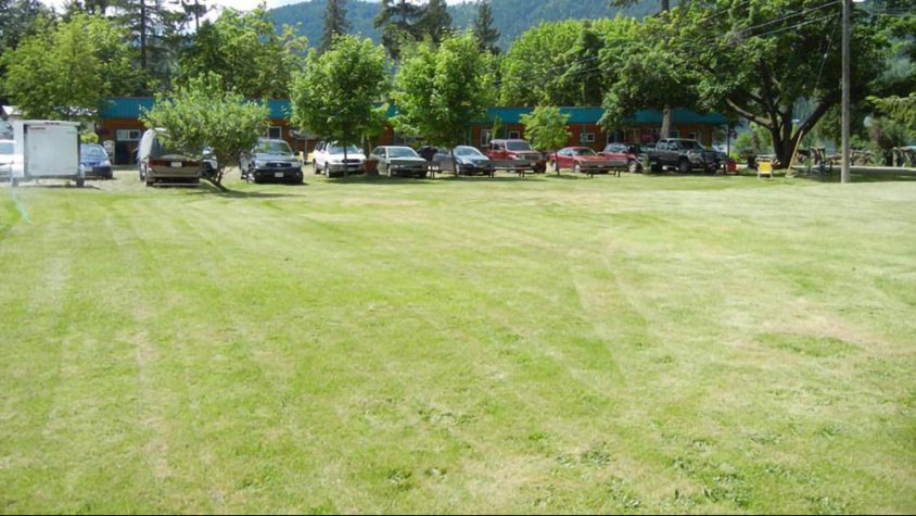Campground lawn