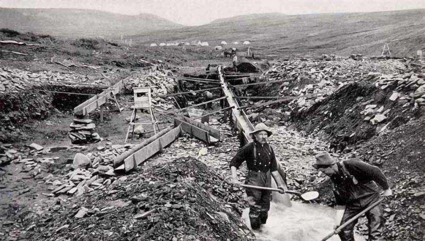 Rock Creek gold rush