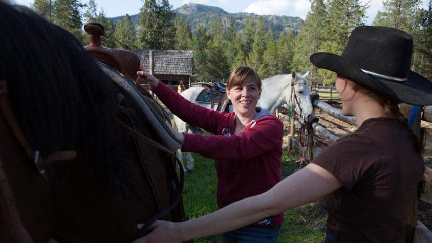 Ranch vacation, saddling up