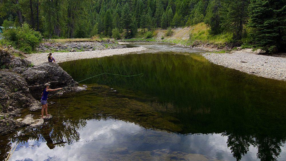 Fishing, Kettle River, near Westbridge, Boundary