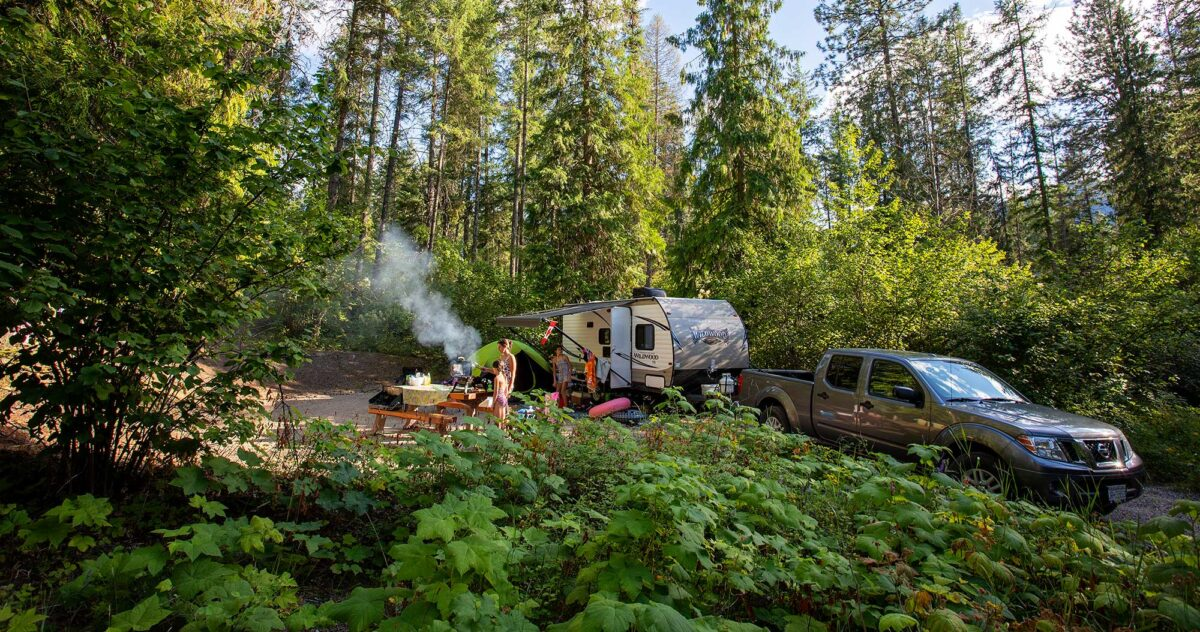Trailer camping in the Boundary